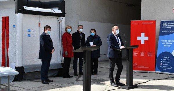 Elveția și OMS oferă ajutor Republicii Moldova în contextul pandemiei: Au donat instalații de decontaminare și echipament IT