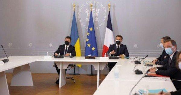 Merkel, Macron și Zelenski cer retragerea trupelor rusești de la granița ucraineană (VIDEO)