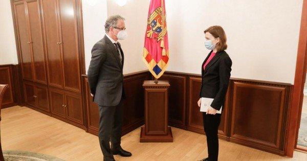 Președintele Maia Sandu a discutat cu Claus Neukirch, șeful Misiunii OSCE în Republica Moldova