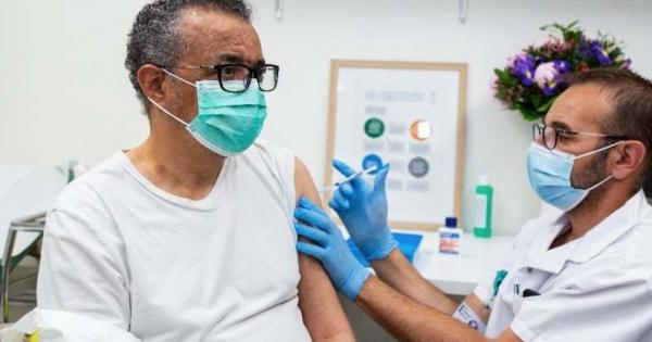 Directorul general al OMS, vaccinat împotriva Covid-19