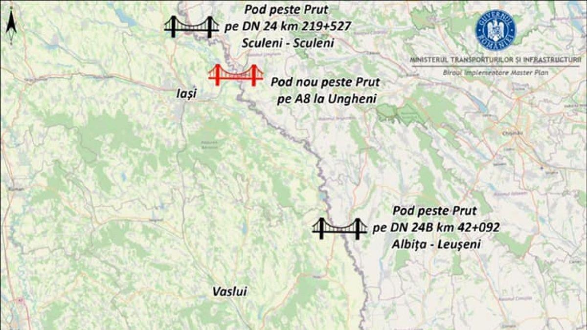 Un pod nou va fi construit peste Prut, anunță ministrul Transporturilor al României