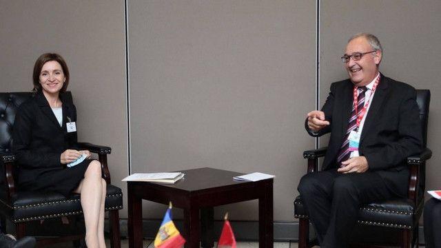 În prima zi a sesiunii Adunării Generale a ONU, Maia Sandu a avut o întrevedere cu președintele Eleveției