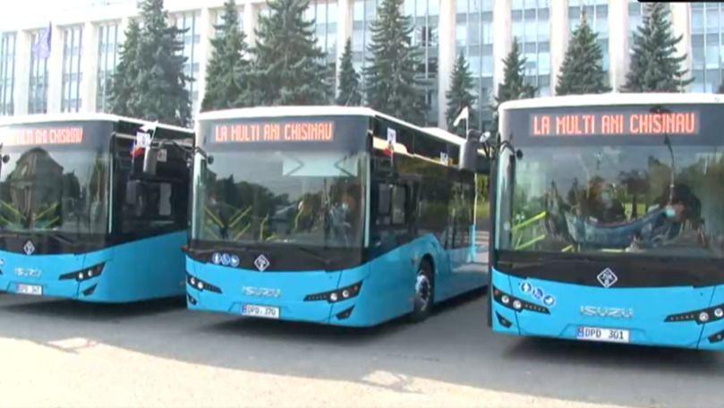 Primăria Chișinău a lansat 9 autobuze noi care vor circula pe străzile Capitalei
